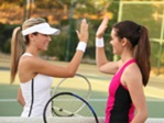 Ladies Playing Tennis