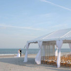 Wedding tent on beach