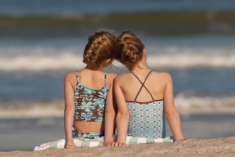 Very Young Girls at Beach