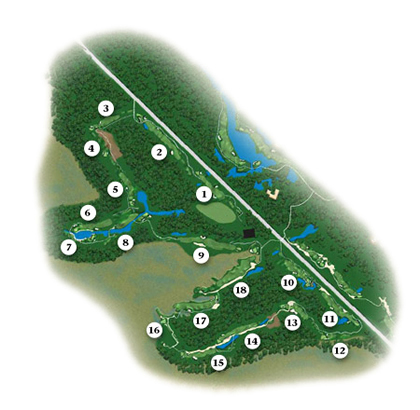 Oak Marsh Course Map