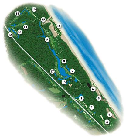 Ocean Links Course Map