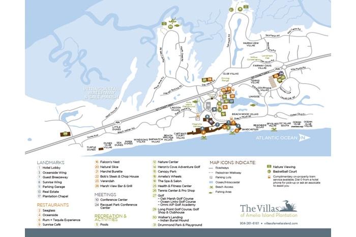 Amelia Island Plantation Resort Map