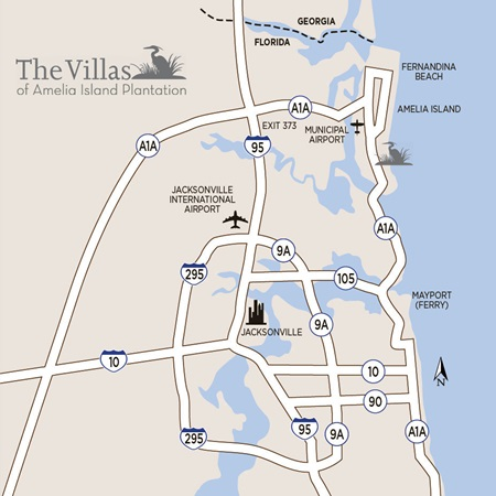 Directions to Amelia Island | Villas of Amelia Island Plantation