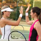 Ladies Playing Tennis